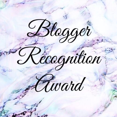 Blogger Recognition Award Tag